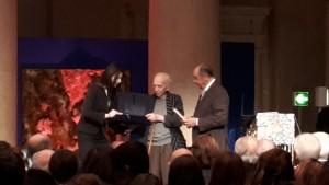Giancarlo Majorini riceve il premio Fondazione Roma - Ritratti di Poesia