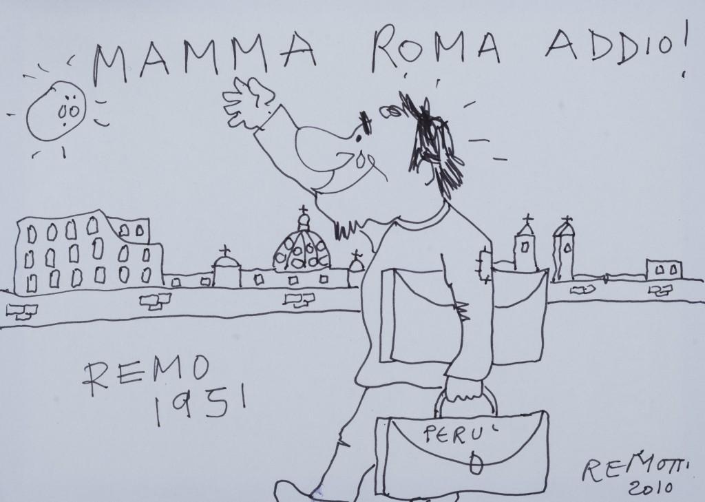 Remo Remotti Mamma Roma Addio, della serie REMOTTI A FUMETTI