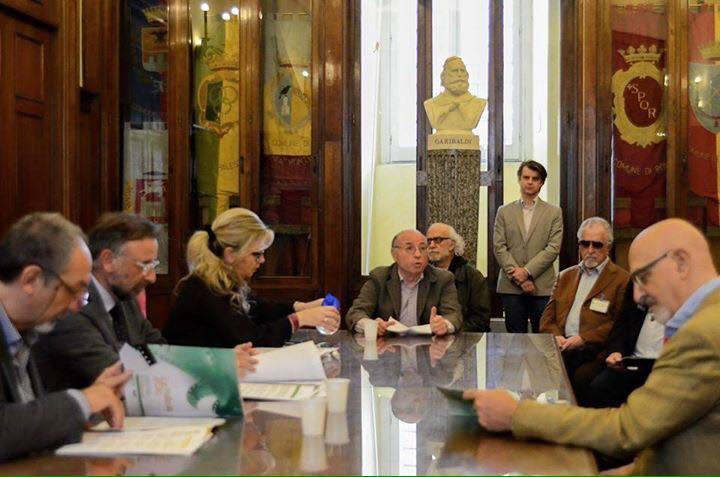 il presidente della FITeL Giovanni Ciarlone, alla conferenza stampa del