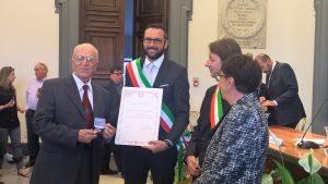 Nazio, partigiano dell'Ottava zona di Roma, il sindaco di Ciampino, Giovanni Terzulli.